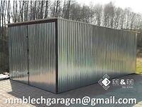 Blechgaragen Mehrzweck Garage Blechgarage Fertiggarage 2,2x4 Lager Garagen Halle