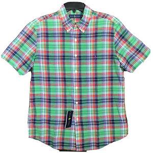 Polo-Ralph-Lauren-Men-039-s-Authentic-Indian-Madras-Plaid-Shirt-Short-Sleeve-NEW-90