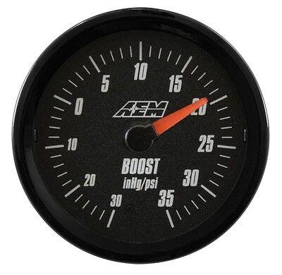 Vacuum Gauge Display 30-5132 SAE AEM Analog 30-35 psi Turbo Boost