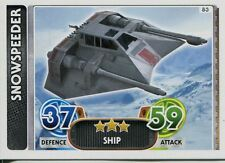 Star Wars Force Attax : Force Awakens Set 1 #83 Snowspeeder