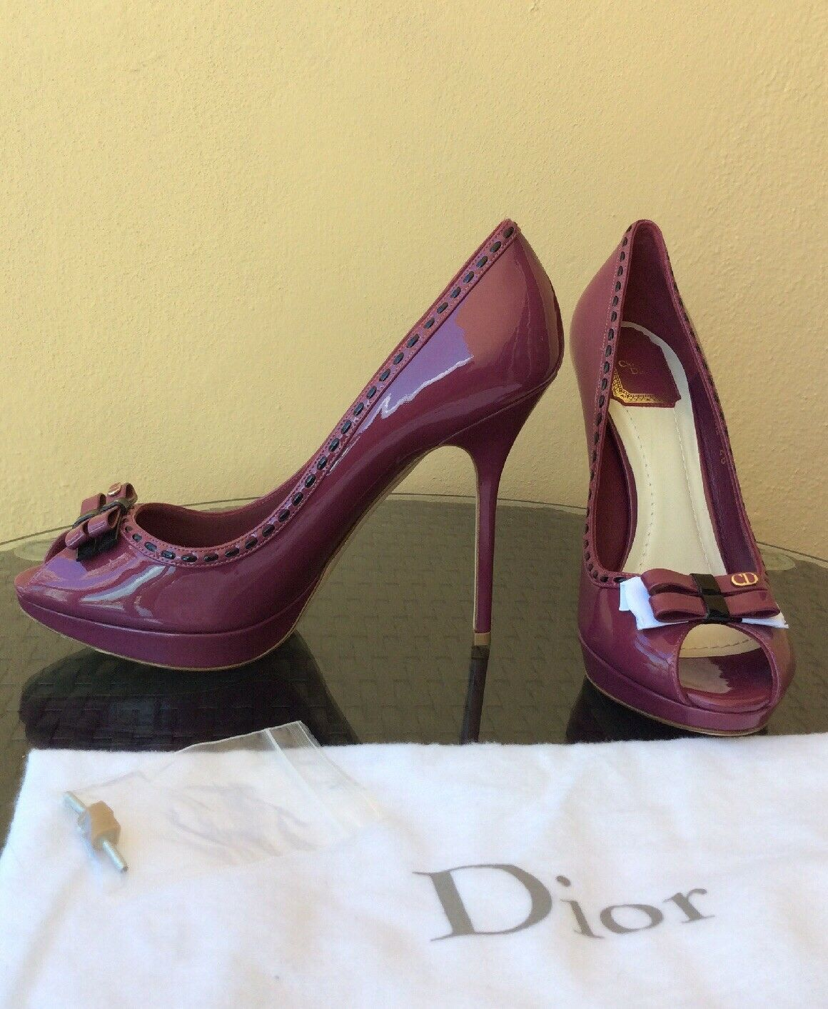 New & Authentic Christian Dior Miss Dior Open Toe Pumps shoes Size 39