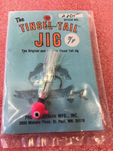 Vintage Pro fisherman Mfg Inc ST Paul MN tinsel tail fishing lure jig F8 RARE