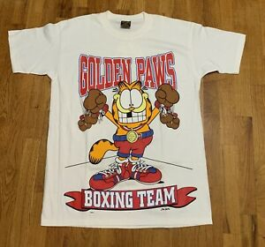 Rare Vintage Garfield Mens T Shirt Golden Paws Usa Boxing Team Deadstock Ebay