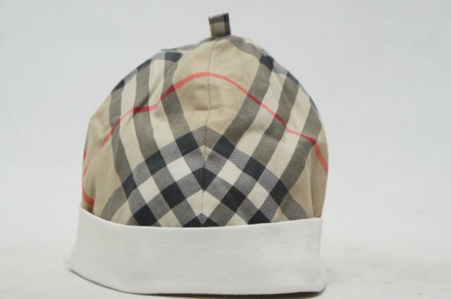 BURBERRY BABY CAP WHITE HOUSE CHECK BUCKET HAT ( 46 CM )  b4354b3de2d4