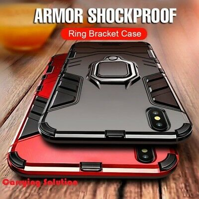 finest selection aee09 01eb2 For iPhone XS Max XR Ring Shockproof Protective Rugged TPU Bumper Case Cover
