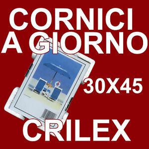 Crilex Cornice A Giorno 30x45 - Pacco Da 12 - Cornici Crilex Antinfortunistico GuéRir La Toux Et Faciliter L'Expectoration Et Soulager L'Enrouement