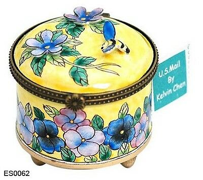 KELVIN CHEN Enamel STAMP Dispenser - Pansy Bumble Bee