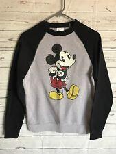 652bb0fc59 Disney Sweatshirt Top Womens Large Gray Mickey Mouse Retro Crew Pullover  Small