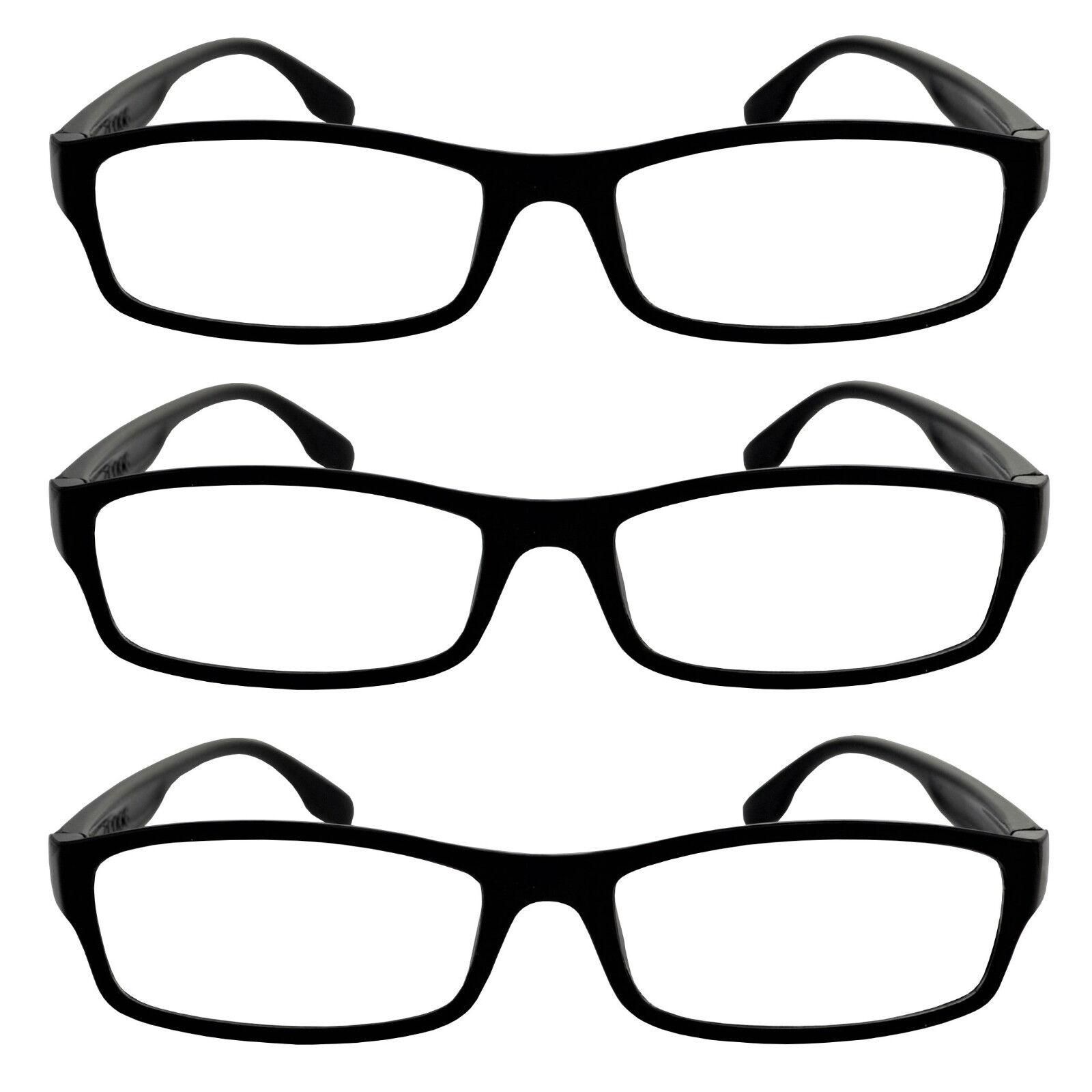 schwarze moderne Unisex Lesebrillen Set wahl 1-3-5-7-10-20 Stk