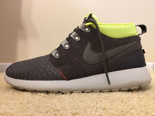 4ae1fb17a9df Nike Roshe Run One Mid Winter Sneakerboot Shoes Mens 11 Newsprint ...