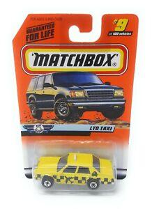 Matchbox-MBX-Superfast-1999-No-9-Ford-LTD-Taxi-gelb-USA-exlusiv-Modell