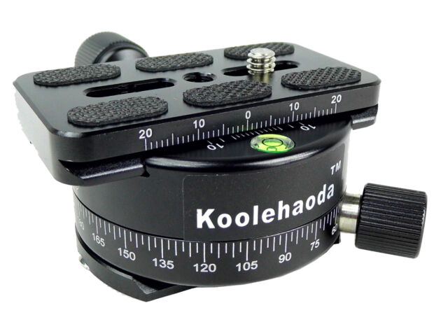 Professional 360°Panoramic Head Camera Tripod Head With 70mm Quick Release Plate