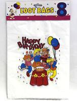 96 Pcs Happy Birthday Loot Bag Treat Sacks Loot Bags Plastic Bag