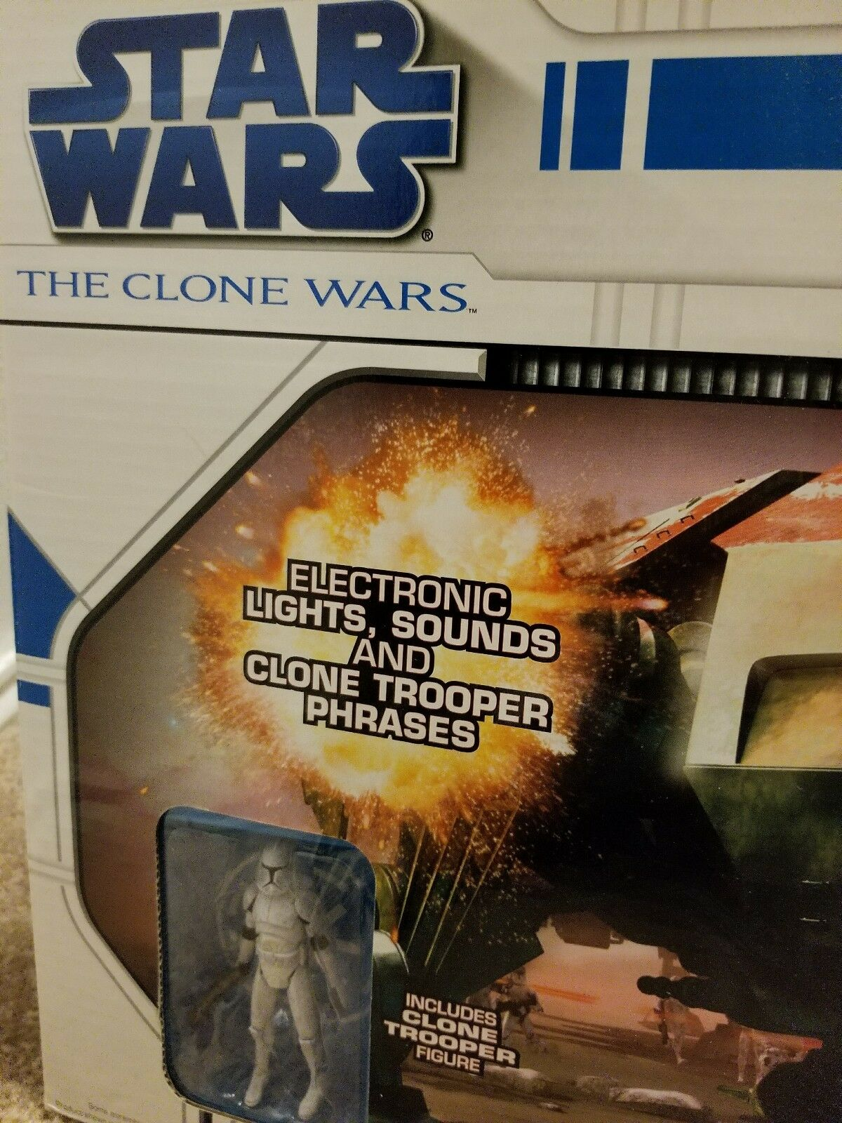 Star Wars The Clone Wars AT-TE All Terrain Tactical Enforcer Enforcer Enforcer Trooper Collectible 50379f