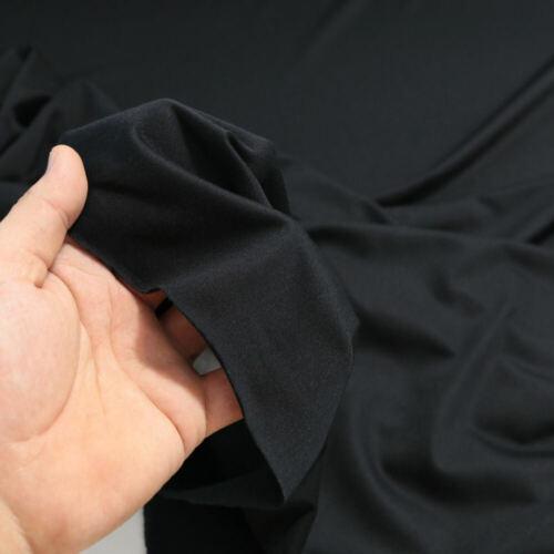 Schwarz Polyester JERSEY elastischer Bekleidungs-Stoff leichte Stoffe Meterware