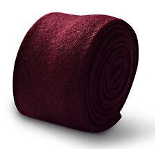 Frederick Thomas mens 100% wool tie in plain maroon/dark red FT3330