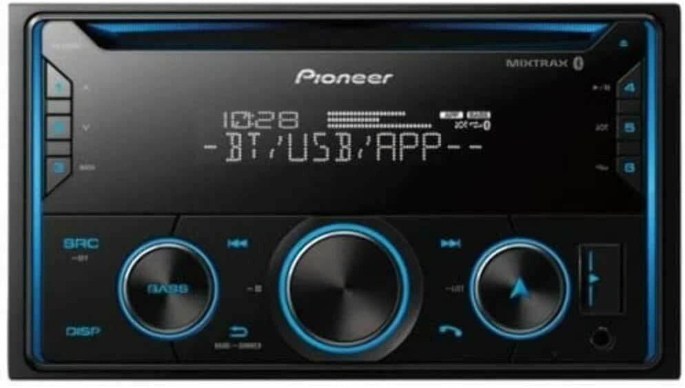 Alexa Compatible PIONEER FH-S520BT Pioneer FHS520BT Double Din Bluetooth in-Dash CD//Am//FM Car Stereo Receiver W//USB Smart Sync
