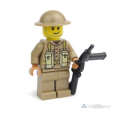 Soldat WW2 Figur braun beige bedruckt aus LEGO® Teilen Custom U.S