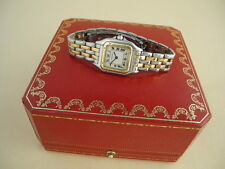 CARTIER PANTHERE WATCH TWO Row 18K Yellow Stainless Steel cartier Watch Superb