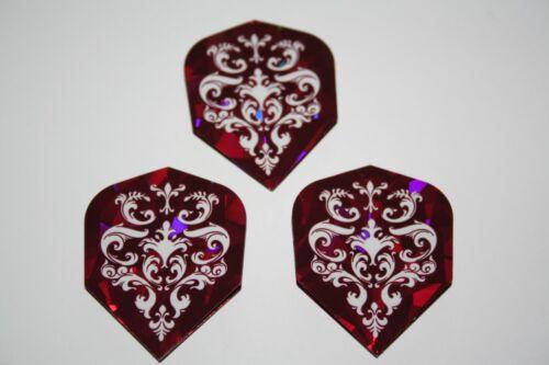 10 Sets Harrows Red Holographic Dart Flights