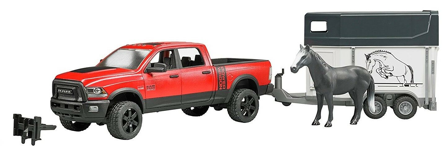 Bruder Toys RAM 2500 Power Wagon with Horse Trailer and Horse 02501
