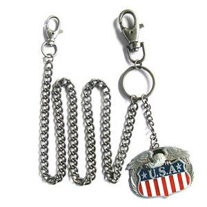USA-Eagle-Schluesselkette-Walletchain-United-States-USA-US-Flag-of-America