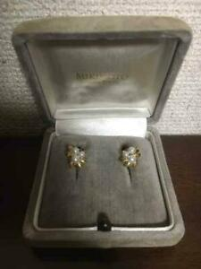 MIKIMOTO-Authentic-K18YG-about-3-5-to-4-5mm-Akoya-Pearl-Earrings-Used-Japan