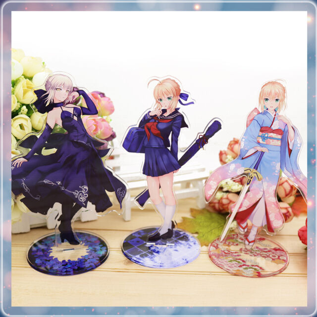 Fate/Zero fate Stay Night Saber Anime Acrylic Stand Figure Desk Decor Collection