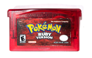 AUTHENTIC! Pokemon Ruby Version GBA Game w/ New Save Battery! OFFICIAL! Tested!