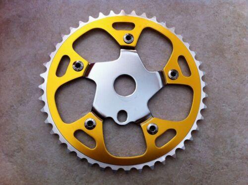 "Original Bicycle Chainring Sprocket Giant 44T x 1//2/"" x 1//8/"" Chrome//Black NEW"