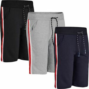 Kids Marl Print Summer Shorts Boys Jersey Bottoms Elasticated Pants 3-14 Years