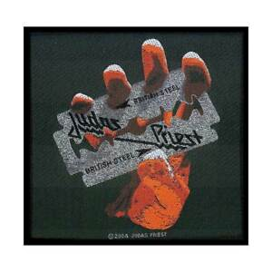 JUDAS-PRIEST-British-Steel-Woven-Sew-On-Patch-Official-Licensed-Band-Merch-Metal