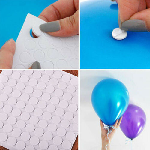 100 Points Balloon Attachment Glue Dot Foil Balloons Stickers Wedding Party F1