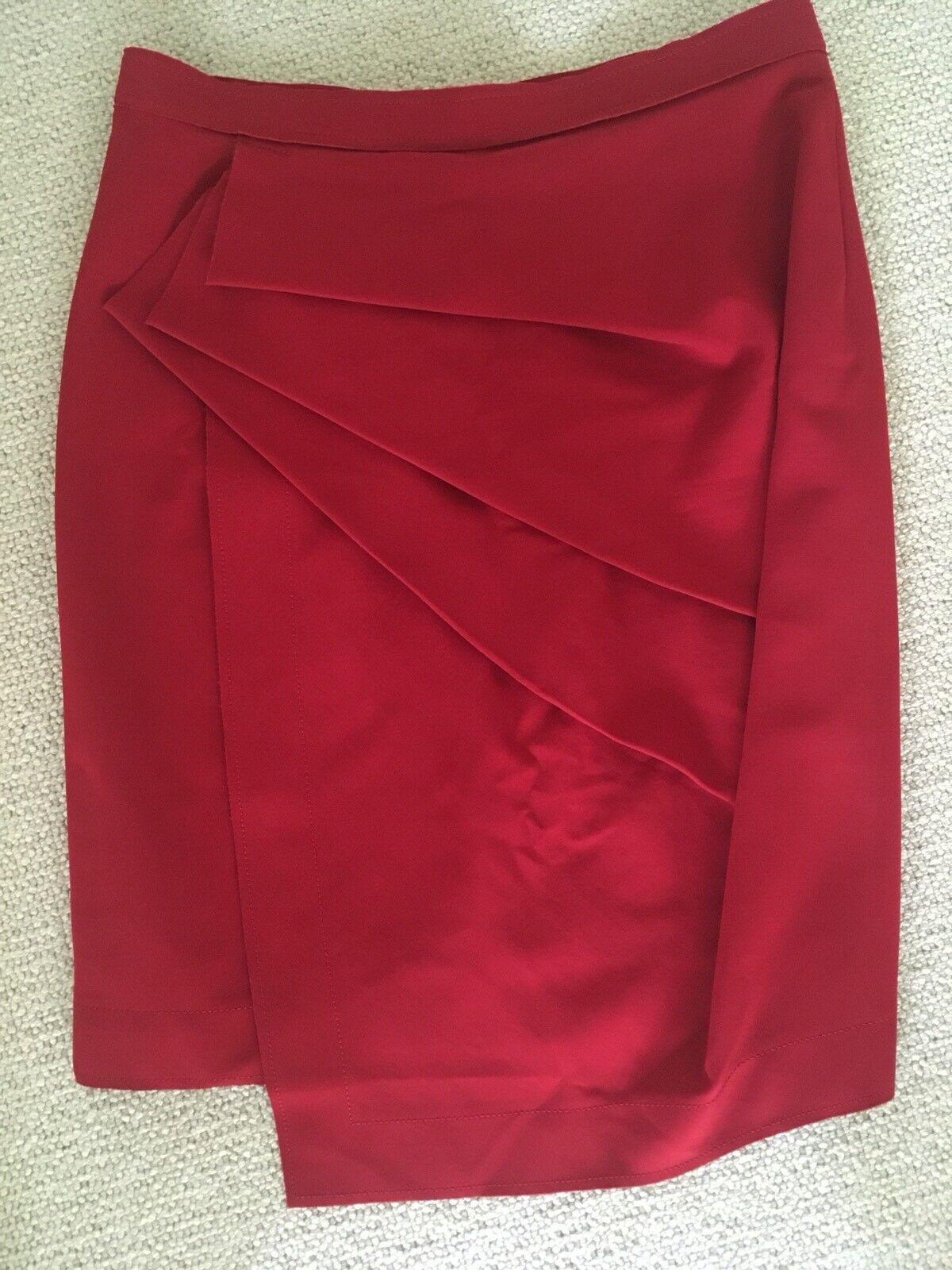 women Karan Red Skirt UK Size 18