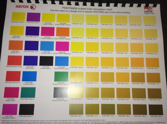 Pantone Coated Color Simulation Chartdesign Tool 4 Graphic