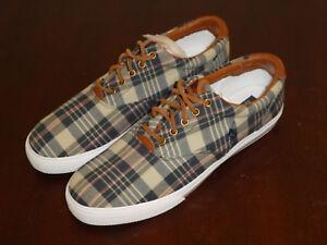 Polo-Ralph-Lauren-Vaughn-mens-shoes-sneakers-new-cape-cod-leather-plaid