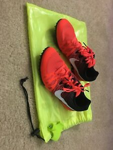Details about Nike Zoom Rival M 8 Mens Multi Use Track Spikes Mid Distance Shoe Neon Red black