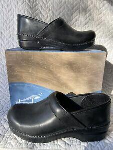 DANSKO  Professional clog Black Cabrio Leather Size 39 Narrow NIB $89 812-02020