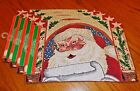 NWT Set of 4 Santa Claus Christmas House Tapestry Placemats 13 x 19