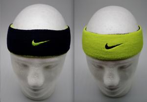 Nike Dri-fit Bandeau Home & Away Homme Femme Tennis Basket Lime/noir-afficher Le Titre D'origine
