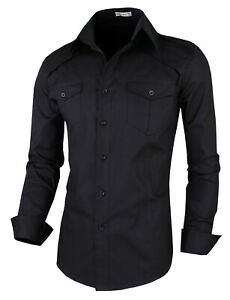 Mens-Slim-Fit-Shirts-Casual-Long-Seleve-Luxury-Formal-Dress-Shirts-Tops