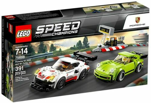 New Lego Speed Champions 75888 Porsche 911 RSR and 911 Turbo 3.0 RETIRED SET