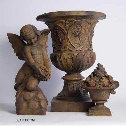 Embellished Urn w// Lid by Orlandi Statuary Made of Fiberstone-FS34058-Garden