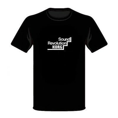 3XL KORG USA Keyboards Electronic Music Instrument Synthesizers Black T-Shirt S