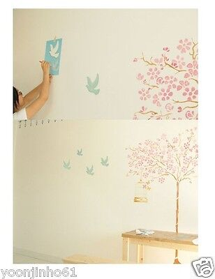 "WALL STENCILS PATTERN 12.99""x9.05"" Airbrush STENCIL LARGE TEMPLATE pigeon"