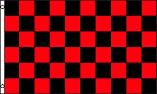 3x5 Black /& Red Checkered Business Outdoor Advertising Flags