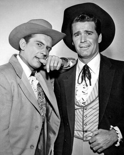 Western TV Show MAVERICK Glossy 8x10 Photo Poster Jack Kelly and James Gardner
