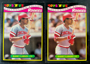 Lot Of 2 NM/MT - 1987 Barry Larkin Toys R Us RC Rookie #18 - HOF Cincinnati Reds