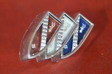 1964 Buick Skylark Rear Deck Trunk Panel Emblem Trim Tri Shields Back Logo Badge