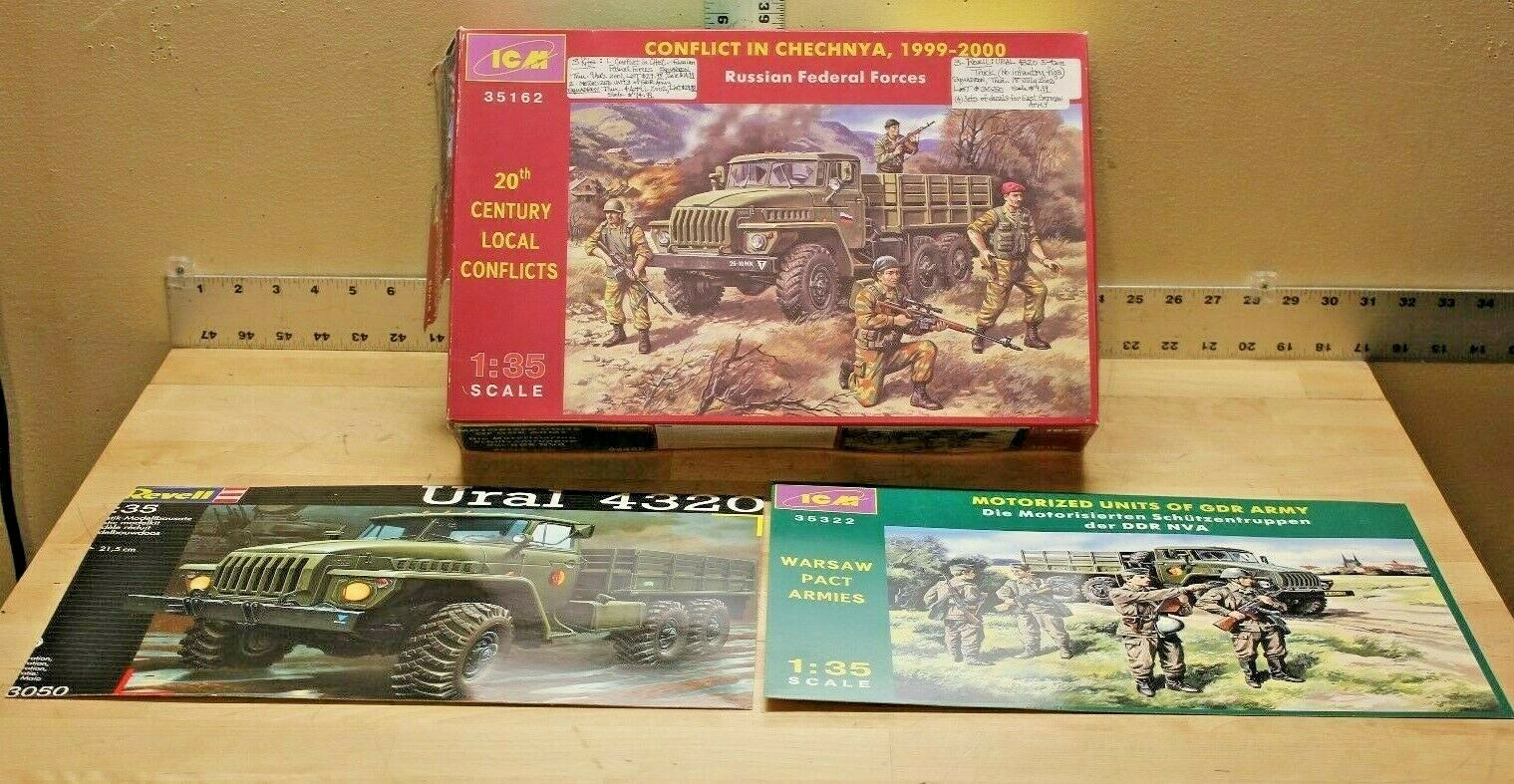 ICM 35322, 35162 and Revell 03050-0389 Model Kit Lot 3 Complete Kits in One Box